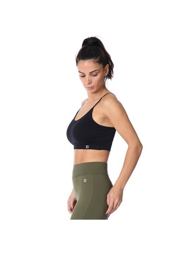 Sportive Spo-Seambraz Kadın Siyah Yoga - Pilates Sporcu Sütyeni 710031-00B-Sp Siyah
